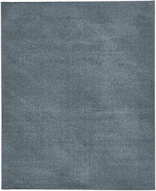 Salon Solid Shag Sss1 Slate Blue 8' x 10' Area Rug