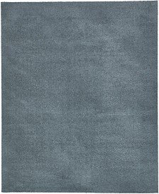 Bridgeport Home Salon Solid Shag Sss1 Slate Blue 8' x 10' Area Rug