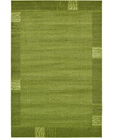 Bridgeport Home Lyon Lyo1 Green 6' x 9' Area Rug