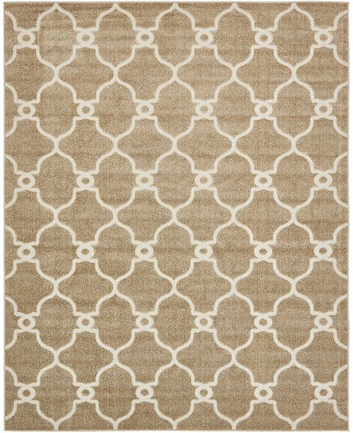 Bridgeport Home Pashio Pas2 Light Brown 8' x 10' Area Rug