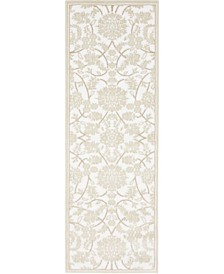 Bridgeport Home Marshall Mar1 Snow White 2' x 6' Runner Area Rug