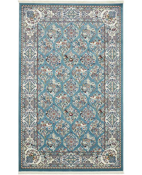 Bridgeport Home Zara Zar6 Blue 5' x 8' Area Rug