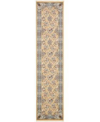 Zara Zar6 Tan 3' x 13' Runner Area Rug
