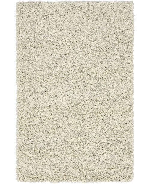 "Bridgeport Home Exact Shag Exs1 Pure Ivory 3' 3"" x 5' 3"" Area Rug"