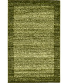 "CLOSEOUT!  Lyon Lyo4 Light Green 3' 3"" x 5' 3"" Area Rug"