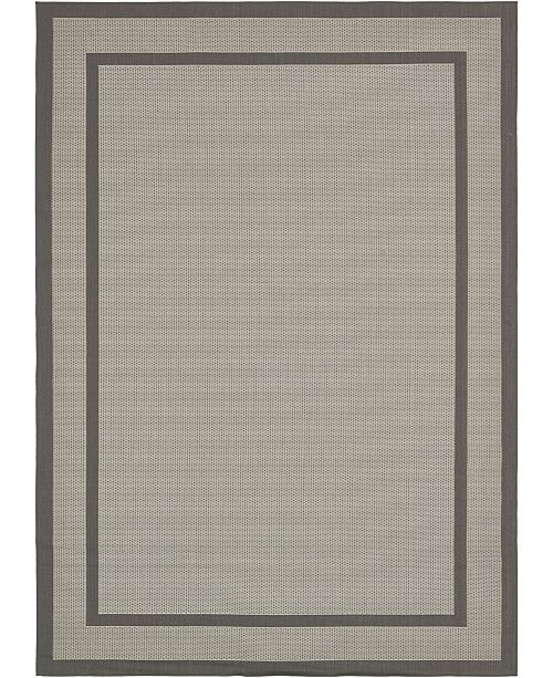 "Bridgeport Home Pashio Pas5 Gray 8' x 11' 4"" Area Rug"