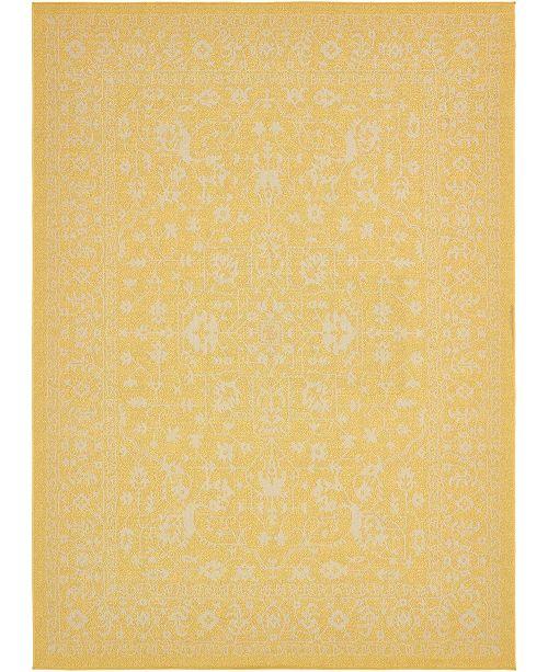 "Bridgeport Home Pashio Pas6 Yellow 8' x 11' 4"" Area Rug"