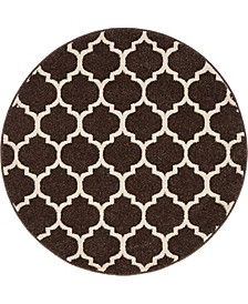 "Arbor Arb1 Brown 3' 3"" x 3' 3"" Round Area Rug"