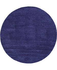 Uno Uno1 Navy Blue 8' x 8' Round Area Rug