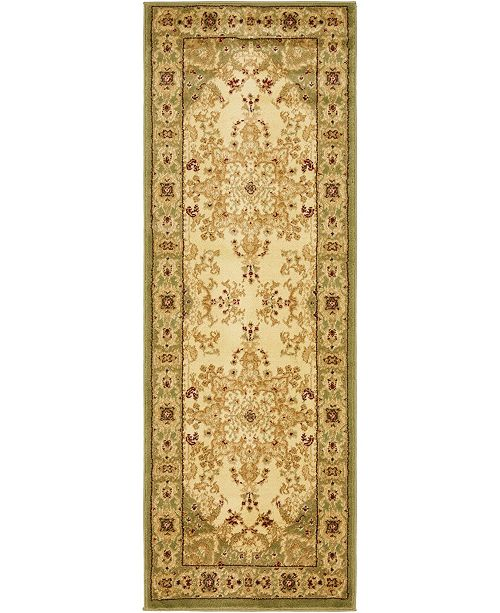 "Bridgeport Home Belvoir Blv1 Ivory/Green 2' 2"" x 6' Runner Area Rug"