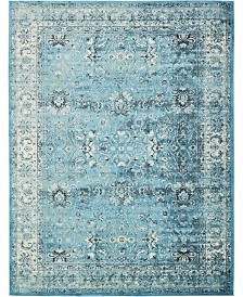 Bridgeport Home Linport Lin1 Turquoise/Ivory 10' x 13' Area Rug