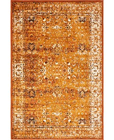 Bridgeport Home Linport Lin1 Terracotta/Ivory 4' x 6' Area Rug