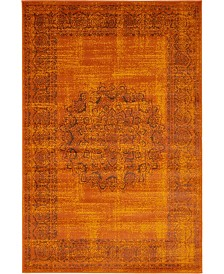 Bridgeport Home Linport Lin5 Terracotta 4' x 6' Area Rug