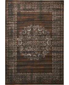 """Bridgeport Home Linport Lin5 Chocolate Brown 8' x 11' 6"""" Area Rug"""
