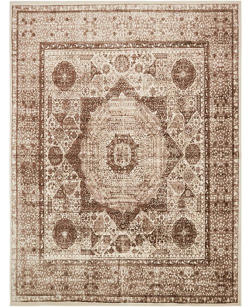 "Bridgeport Home Linport Lin7 Brown 13' x 19' 8"" Area Rug"