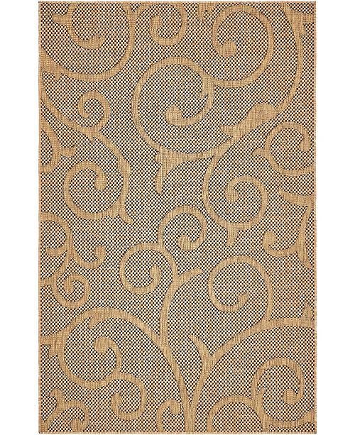 Bridgeport Home Pashio Pas7 Light Brown 5' x 8' Area Rug