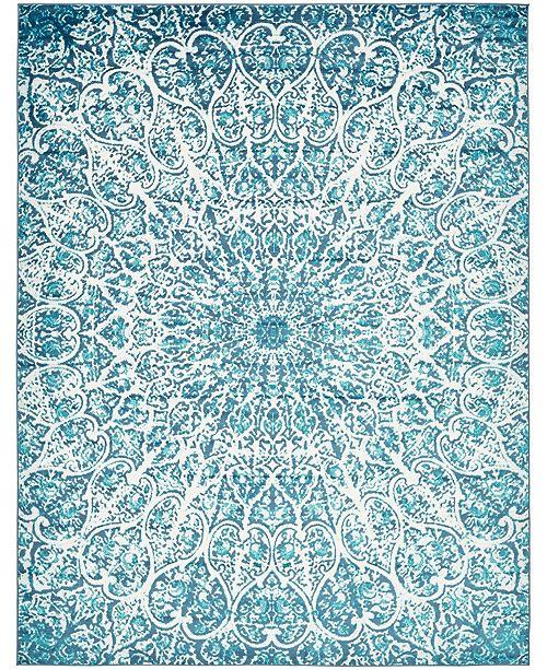 Bridgeport Home Basha Bas4 Turquoise 9' x 12' Area Rug