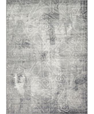 Basha Bas6 Dark Gray 4' x 6' Area Rug