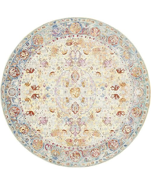 Bridgeport Home Malin Mal2 Beige 8' x 8' Round Area Rug