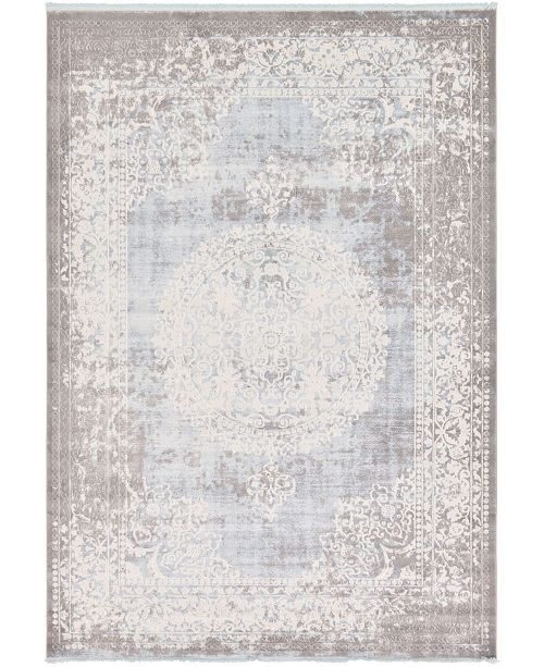 "Bridgeport Home Norston Nor4 Light Blue 8' x 11' 4"" Area Rug"