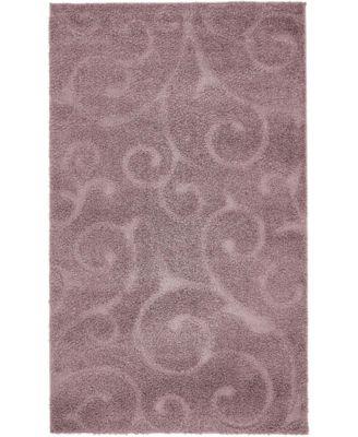 Malloway Shag Mal1 Violet 4' x 6' Area Rug