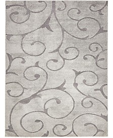 Bridgeport Home Malloway Shag Mal1 Gray 9' x 12' Area Rug