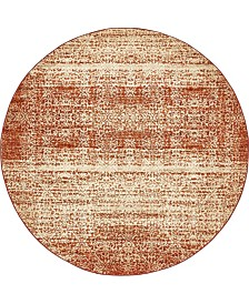 Bridgeport Home Jasia Jas08 Terracotta 8' x 8' Round Area Rug