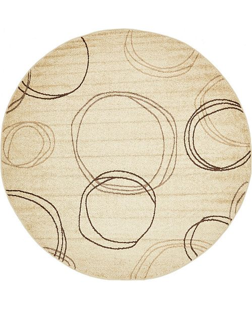Bridgeport Home Jasia Jas05 Beige 8' x 8' Round Area Rug