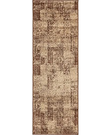 Jasia Jas07 Brown 2' x 6' Runner Area Rug