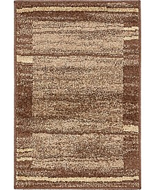 Jasia Jas11 Brown 2' x 3' Area Rug