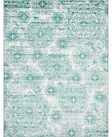Bridgeport Home Basha Bas7 Turquoise 9' x 12' Area Rug