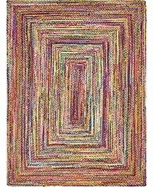 Roari Cotton Braids Rcb1 Multi 9' x 12' Area Rug