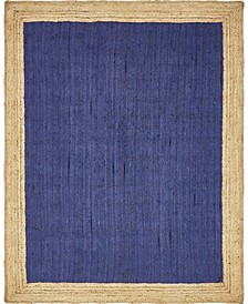 Braided Jute A Bja4 Navy Blue 8' x 10' Area Rug