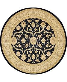 Bridgeport Home Orwyn Orw6 Black 8' x 8' Round Area Rug
