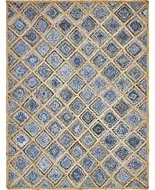 Braided Square Bsq6 Blue 8' x 10' Area Rug