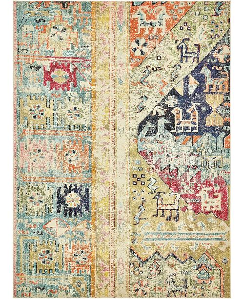 Bridgeport Home Newhedge Nhg5 Multi 9' x 12' Area Rug
