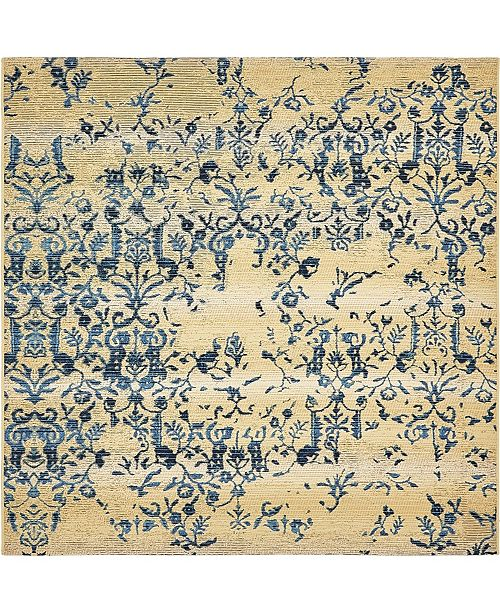Bridgeport Home Pashio Pas2 Beige 6' x 6' Square Area Rug