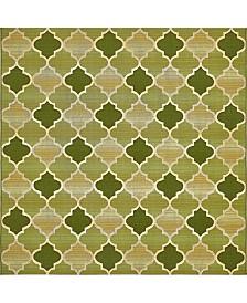 Bridgeport Home Pashio Pas1 Green 6' x 6' Square Area Rug