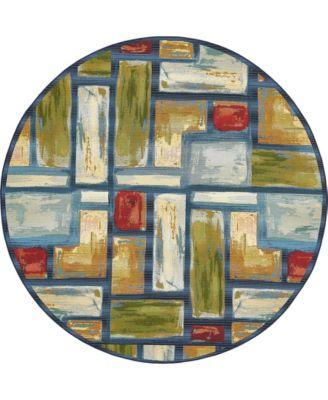 Pashio Pas1 Multi 8' x 8' Round Area Rug