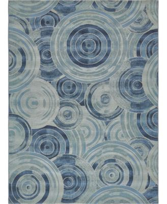 "Pashio Pas1 Light Blue 8' x 11' 4"" Area Rug"