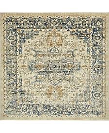 Masha Mas6 Beige 6' x 6' Square Area Rug