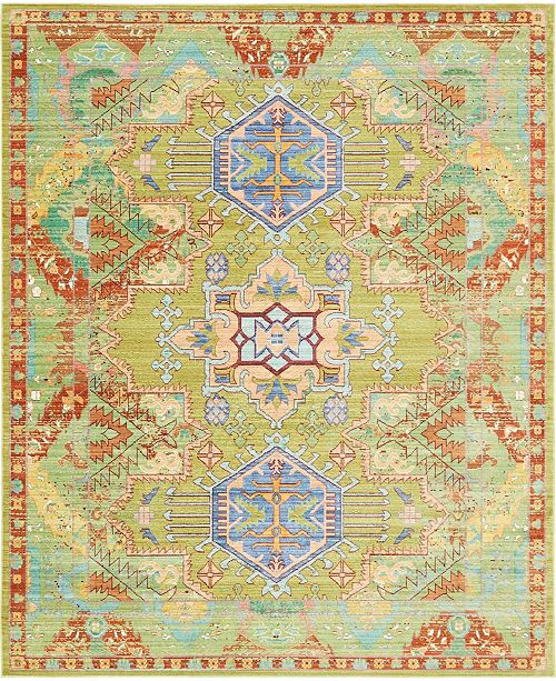 Bridgeport Home Malin Mal5 Light Green 8' x 10' Area Rug