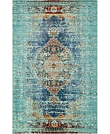 "Bridgeport Home Brio Bri6 Turquoise 10' 6"" x 16' 5"" Area Rug"