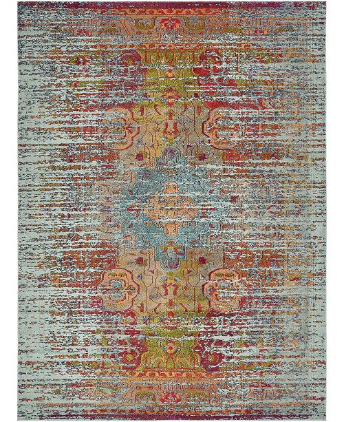 Bridgeport Home Brio Bri1 Blue 9' x 12' Area Rug