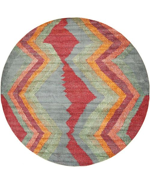 "Bridgeport Home Tempe Tmp2 Gray 8' 2"" x 8' 2"" Round Area Rug"