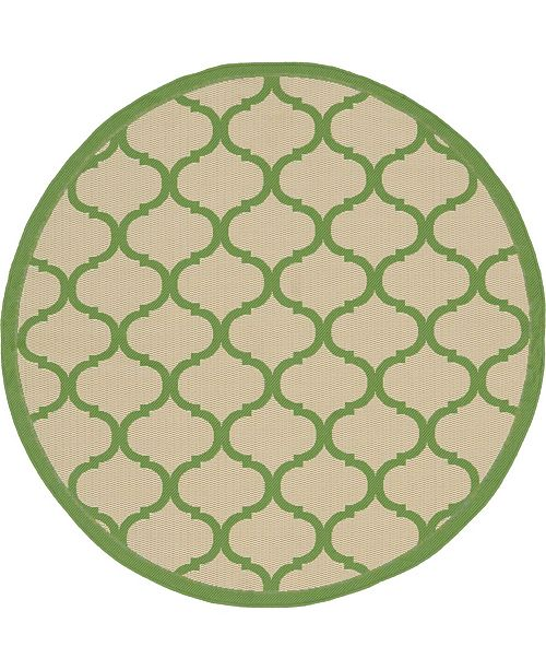 Bridgeport Home Pashio Pas5 Green 6' x 6' Round Area Rug