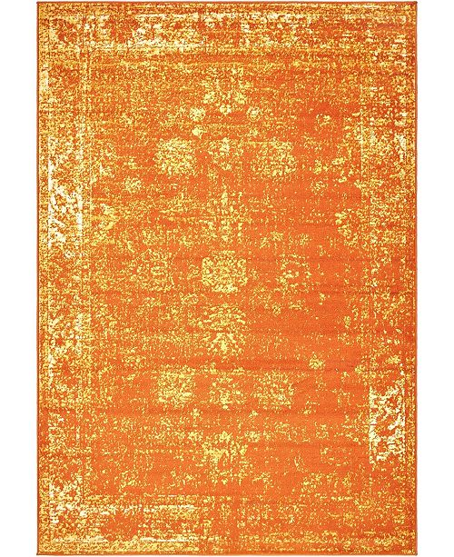 Bridgeport Home Basha Bas1 Orange 6' x 9' Area Rug