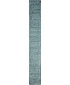 "Bridgeport Home Exact Shag Exs1 Light Slate Blue 2' 6"" x 19' 8"" Runner Area Rug"