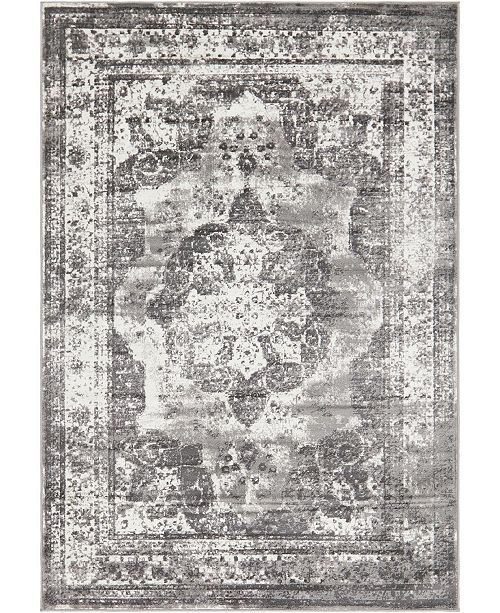 Bridgeport Home Basha Bas2 Gray 6' x 9' Area Rug