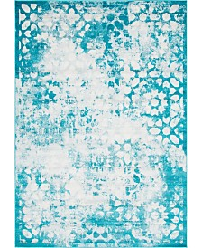 Bridgeport Home Basha Bas5 Turquoise 7' x 10' Area Rug